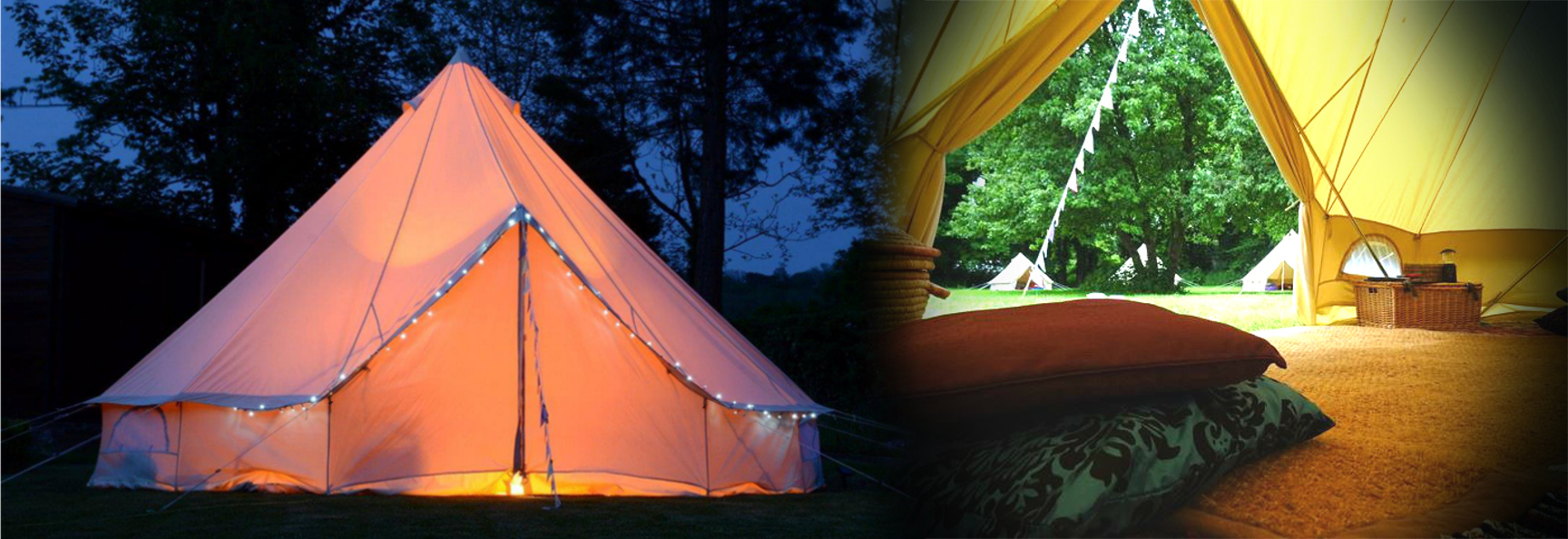 Edinburgh Festival Camping and Glamping Village Luxury Bell Tent slider